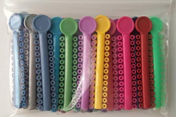Ortodôntico Elastic Ligadura Tie O / I / estilo K