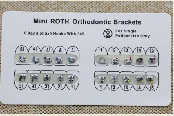 MIM Mini / Standard ROTH / MBT Halterung -hook no / 3 / 345with FDA CE ISO